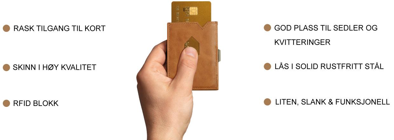 Exentri god plass til sedler og kvitteringer