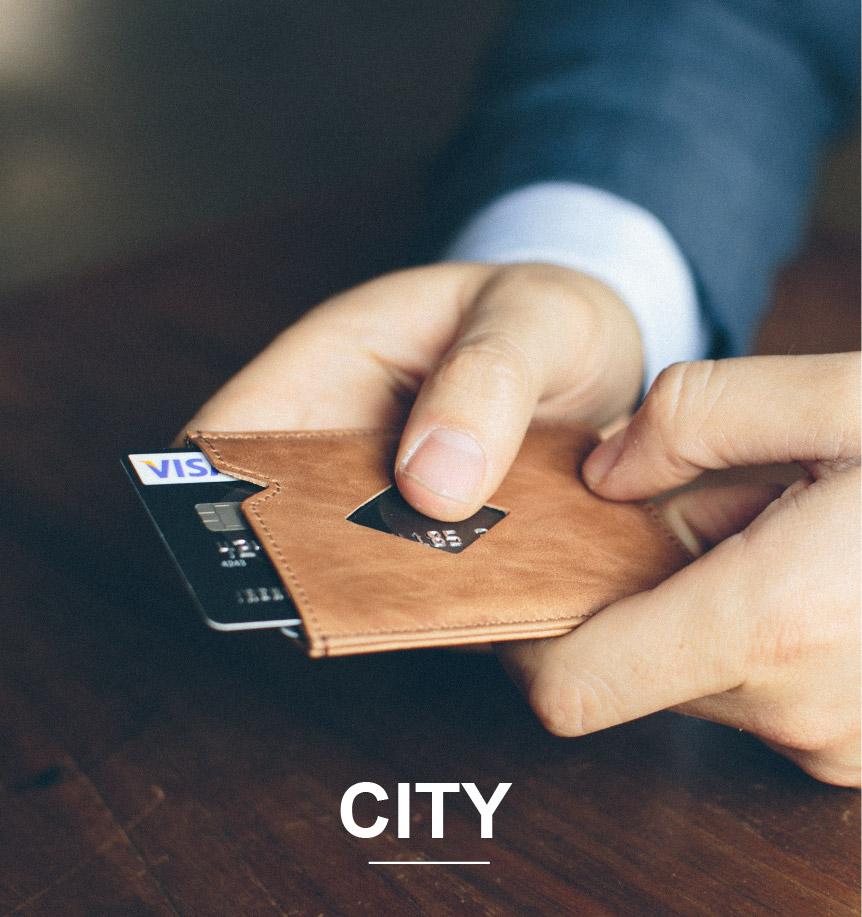 Exentri City kortholder