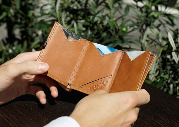 Exentri lommebok kvalitetsmaterialer