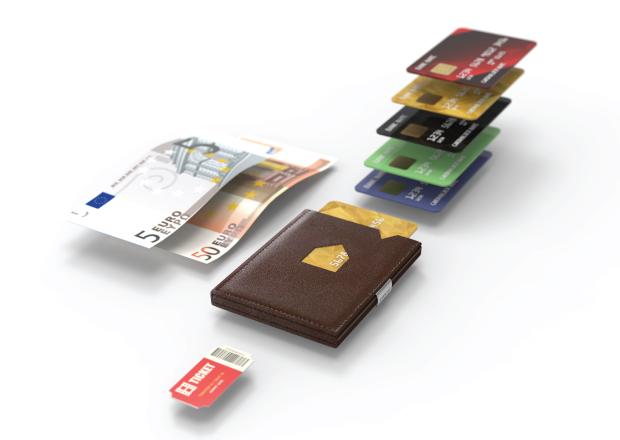 exentri liten tynn praktisk lommebok