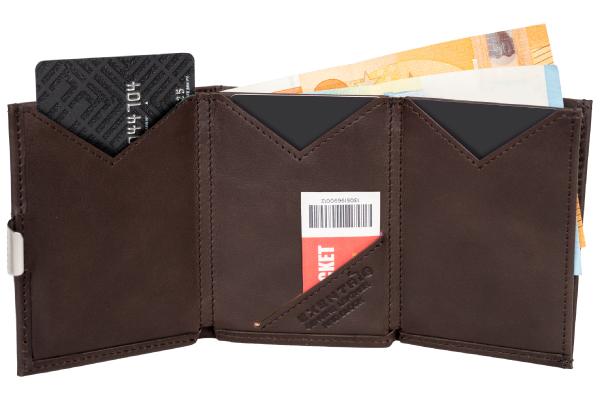 liten klassisk brun lommebok